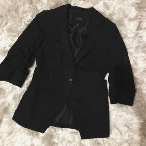The Limited Black Collection Runched-Sleeve Blazer